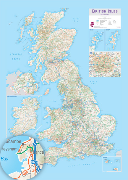 road planner uk map printed onto pre pasted wallpaper 178cms wide x 250cms high 70 wide x 98 high price 14723 ex vat worldwide delivery available