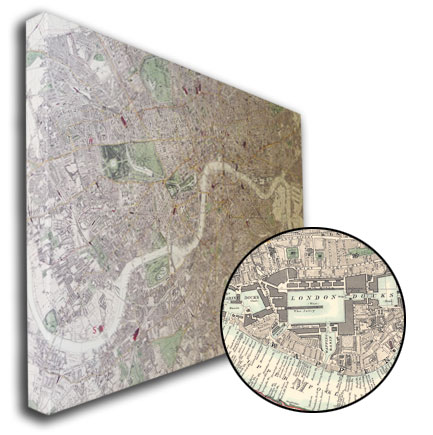 Printed Space: Canvas London Map