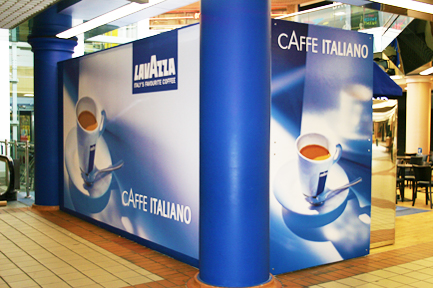 Printed Space: Lavazza Coffee Bar