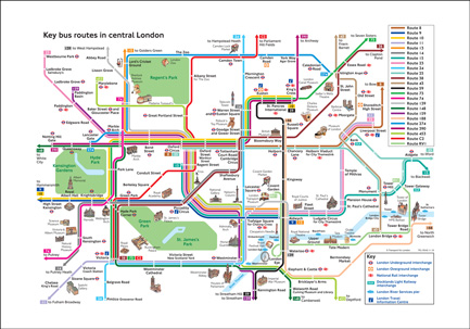 Tfl Bus Map Bespoke Digital Photo Canvas, Wallpaper, Wall Murals, Roller  Tfl Bus Map