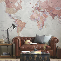 World Map Mural Offers